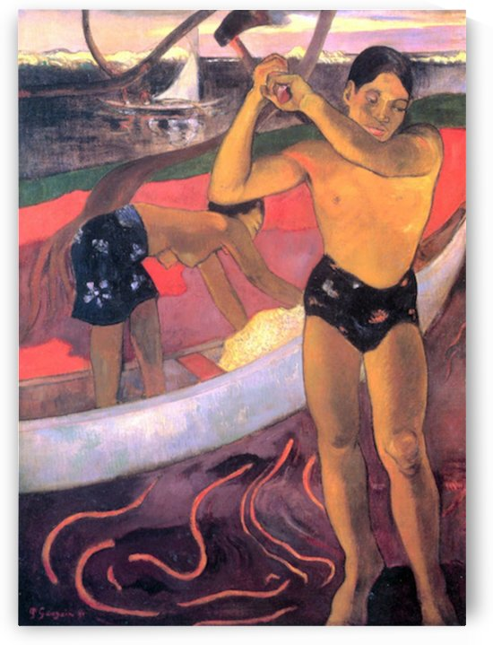 Man with Ax by Gauguin by Gauguin