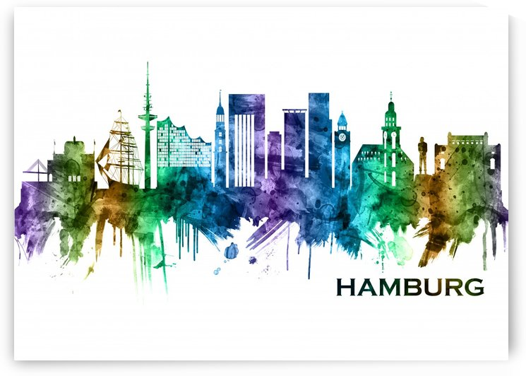 Hamburg Germany Skyline by Towseef