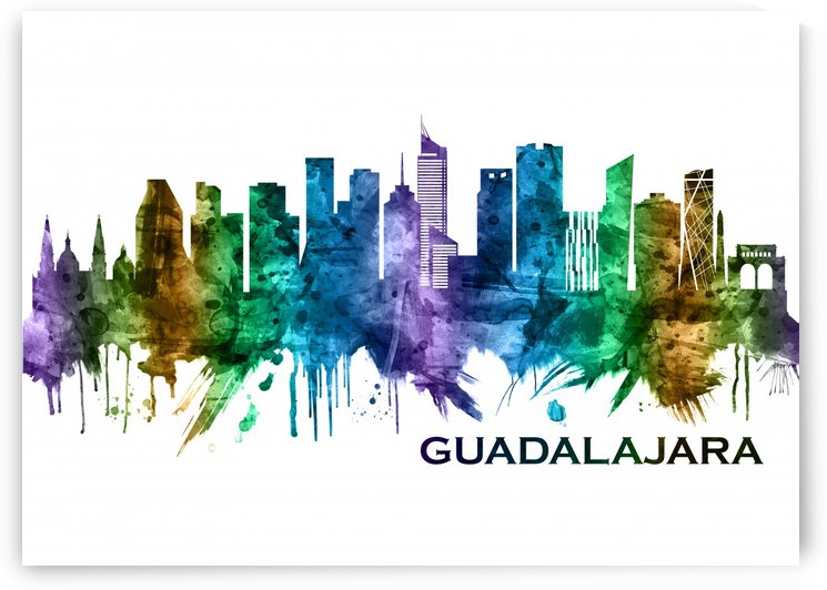 Guadalajara Mexico Skyline by Towseef