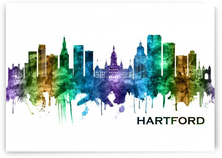 Hartford Connecticut Skyline by Towseef Dar