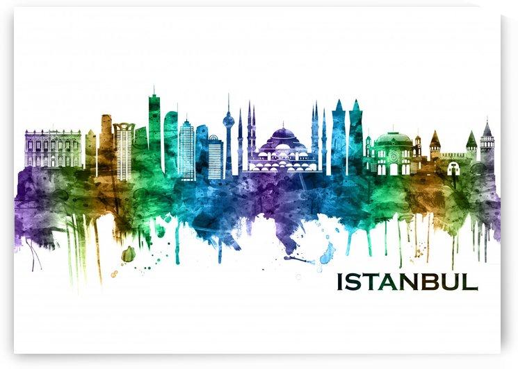 Istanbul Turkey Skyline by Towseef Dar