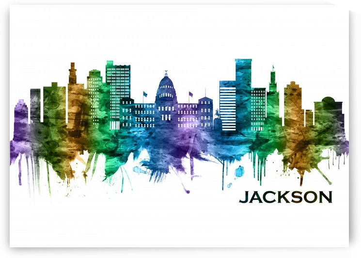 Jackson Mississippi skyline by Towseef Dar