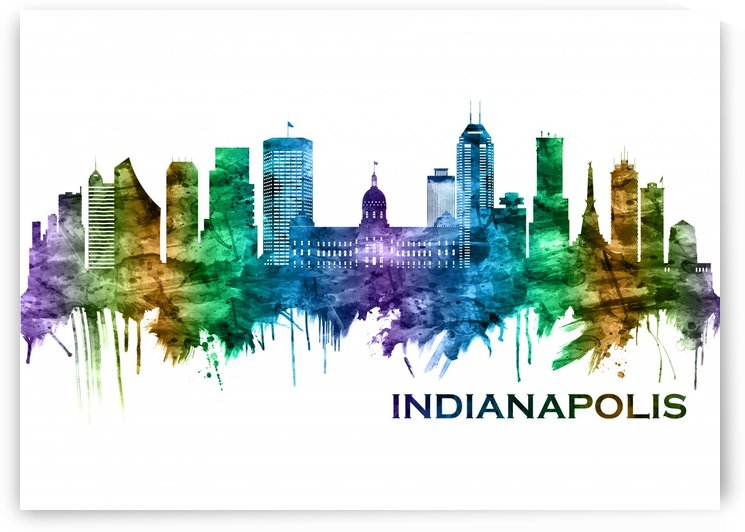 Indianapolis Indiana Skyline by Towseef Dar