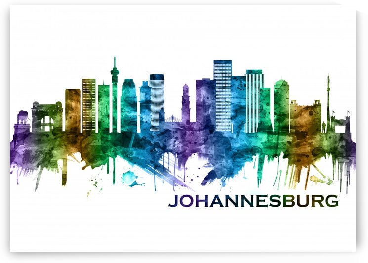 Johannesburg South Africa Skyline by Towseef Dar