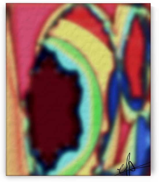Flat Cornea Vision of a Clown Cave by Ed Purchla