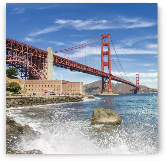 GOLDEN GATE BRIDGE Coastline Impression  by Melanie Viola