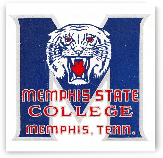 1950s Memphis State College Tigers by Row One Brand