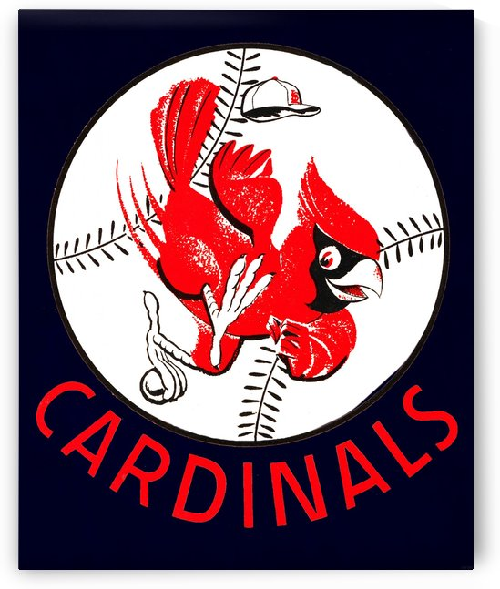 1960s st louis cardinals baseball art  by Row One Brand