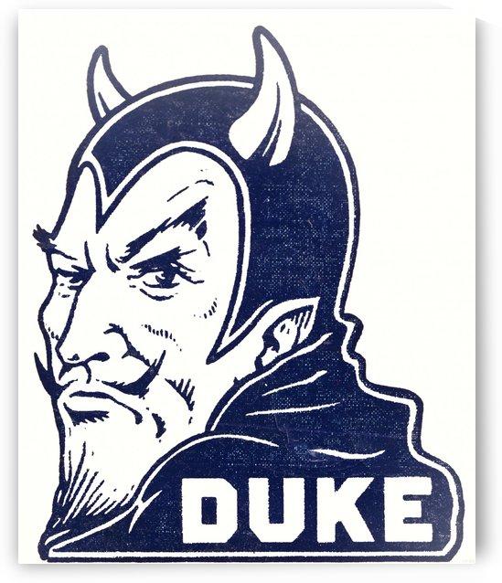 1950s duke university blue devil college art by Row One Brand
