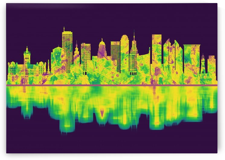 Buffalo New York Skyline by Towseef Dar