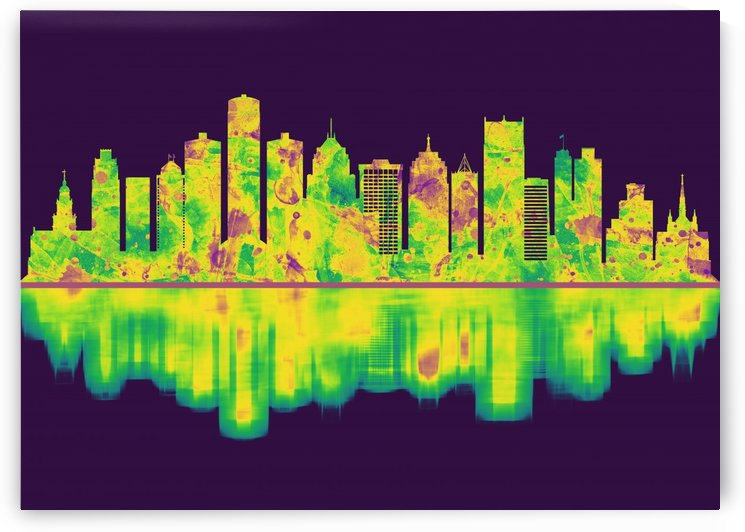 Detroit Michigan Skyline by Towseef Dar