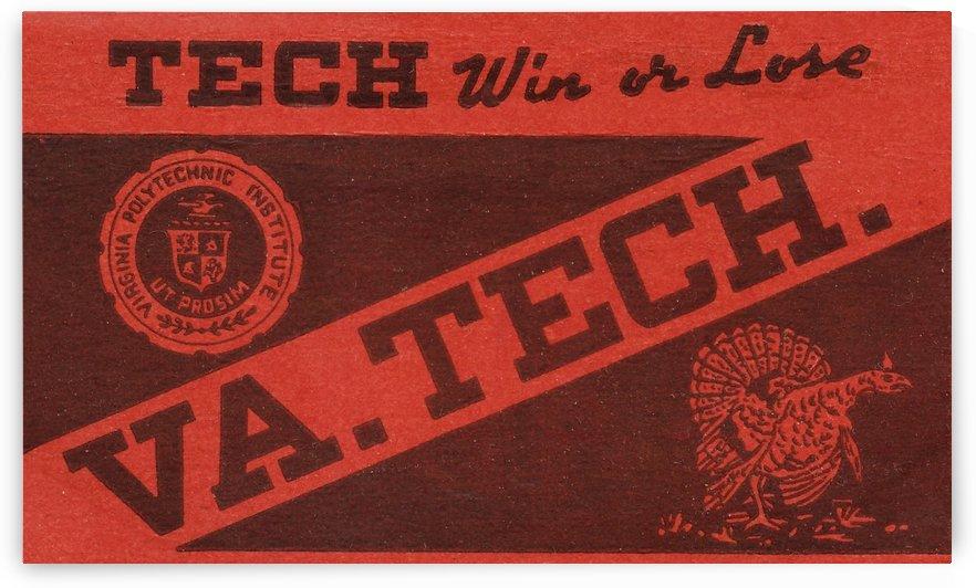 1950s virginia tech hokies vintage art win or lose by Row One Brand
