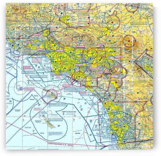 LA & San Diego Aeronautical Wall Art by Erick Johnson Design