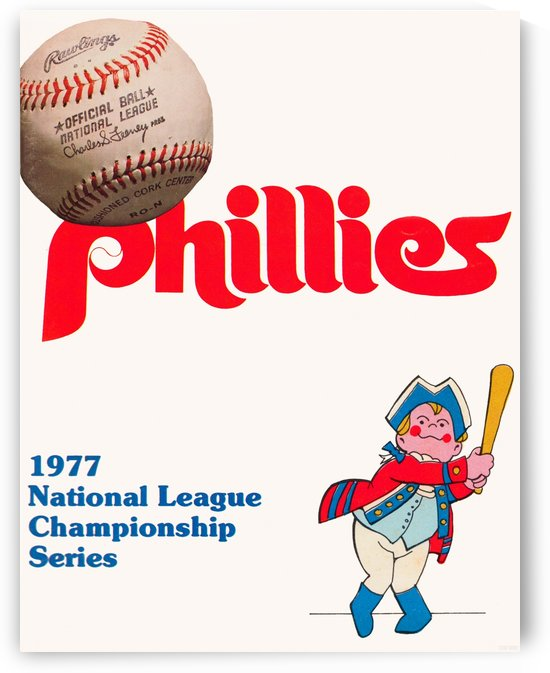 1977 philadelphia phillies national league championship series poster by Row One Brand