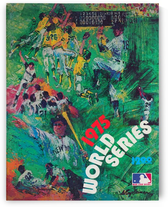 1975 world series program cover leroy neiman wall art by Row One Brand