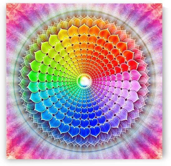 Crown Chakra - Rainbow Lotus by Dirk Czarnota