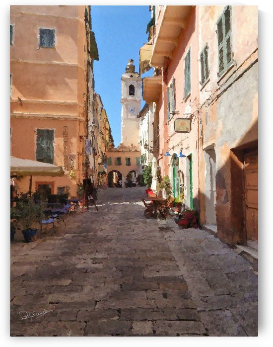 Old Town Bordighera by Shadow and Form