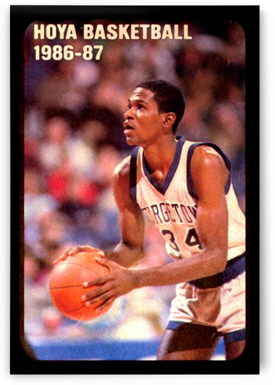 1986 georgetown hoyas basketball reggie williams poster by Row One Brand
