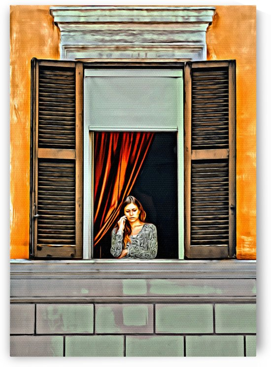 Woman in Window by Darryl Brooks
