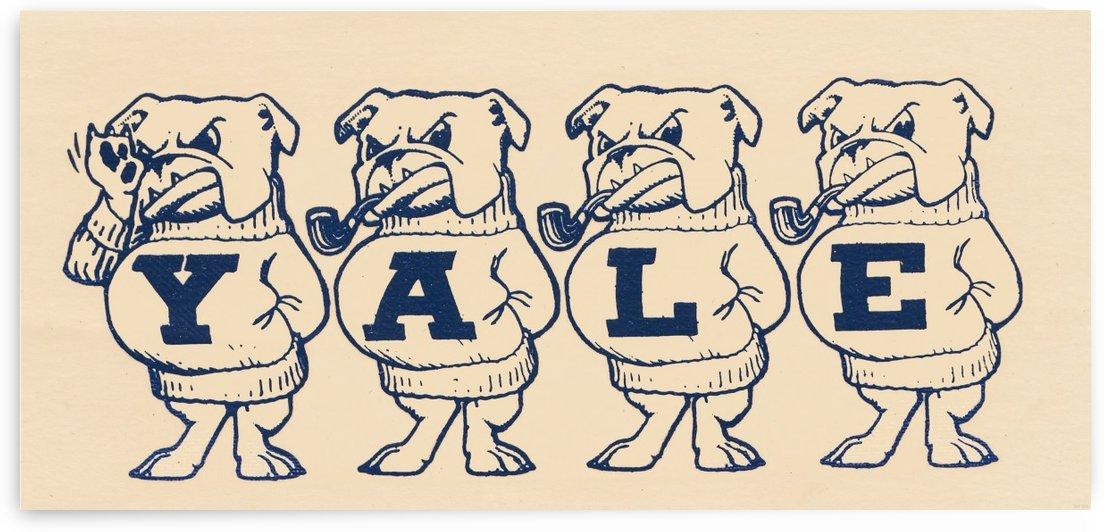1950s yale university bulldogs art by Row One Brand