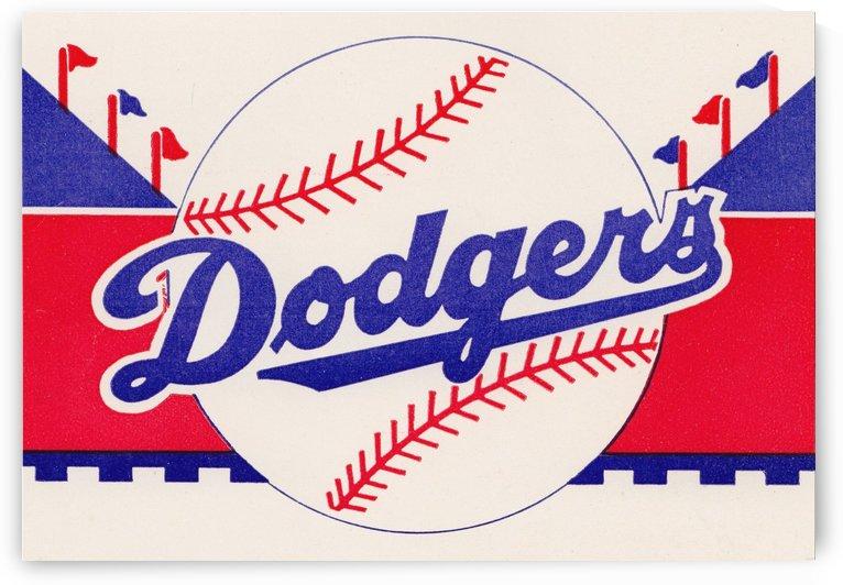 1958 la dodgers baseball art by Row One Brand