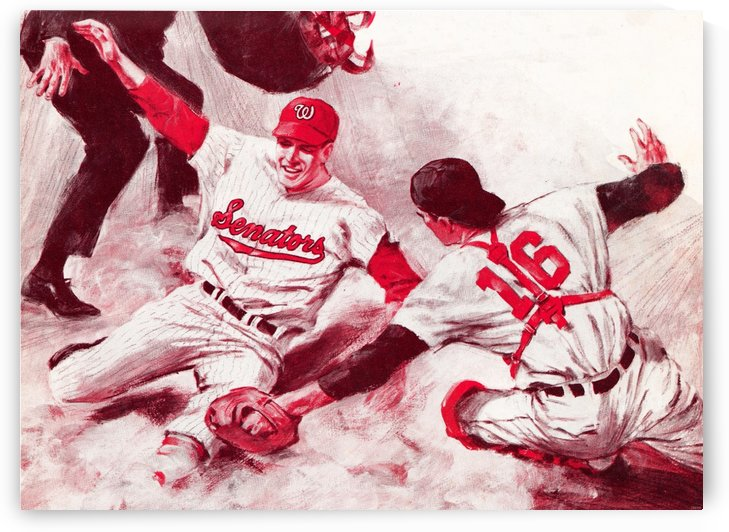 1968 washington senators baseball slide art by Row One Brand