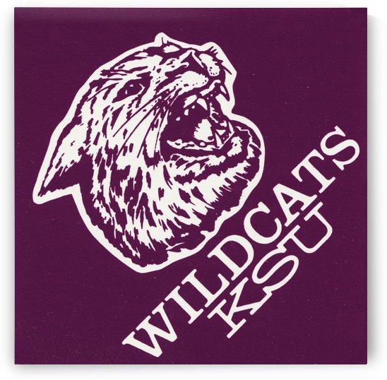 1985 retro ksu wildcats college art by Row One Brand