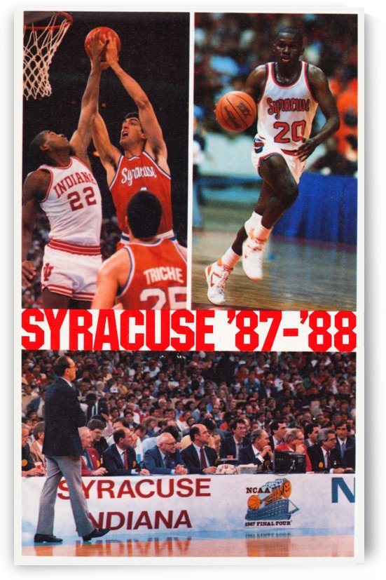 1987 Syracuse University Basketball Poster by Row One Brand