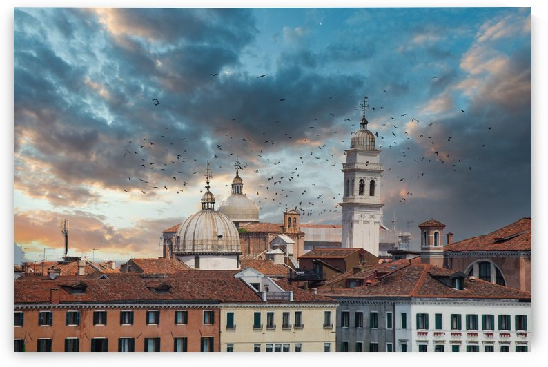 Domes in Venice at Dusk by Darryl Brooks