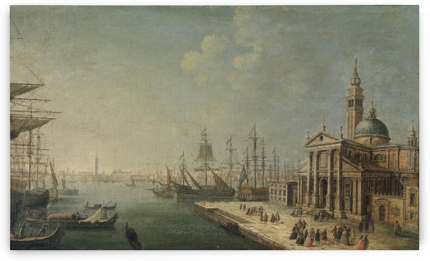 A View of the Bacino di San Marco from the Church and Island of San Giorgio Maggiore by Michele Marieschi
