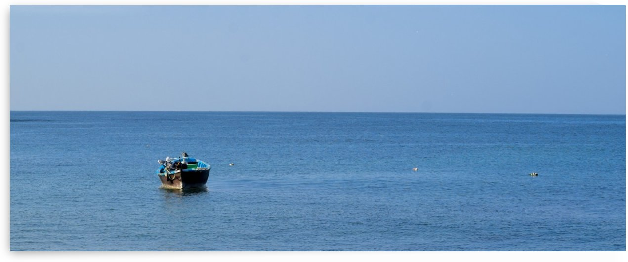 Boat in the Sea by Photopoet