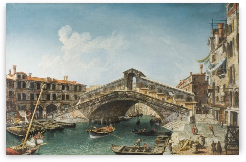 Rialto Bridge from the South by Michele Marieschi