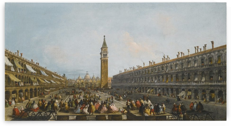 Venice, a view of the Piazza San Marco with the uscita in pozzetta of Doge Pietro Grimani on 30 June 1741 by Michele Marieschi