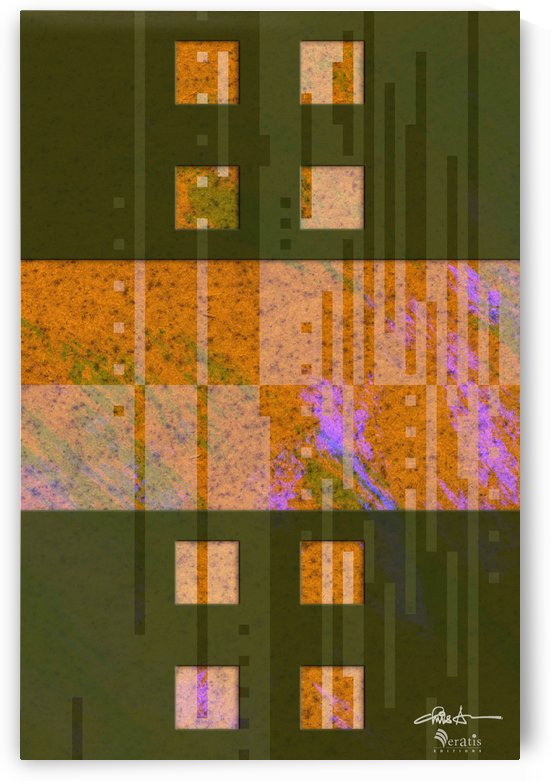 Framed Amber Noise 2H 2x3 by Veratis Editions