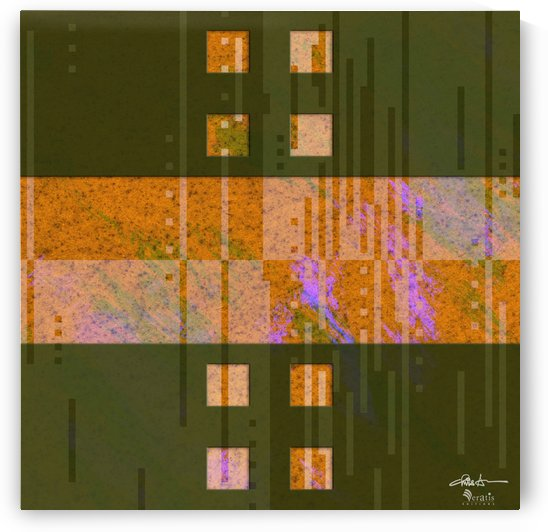 Framed Amber Noise 2H 1x1 by Veratis Editions