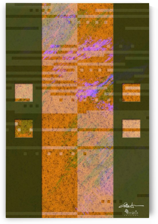 Framed Amber Noise 2V 2x3 by Veratis Editions