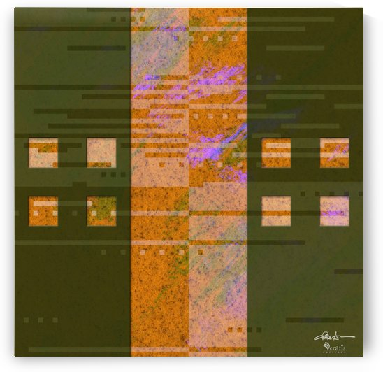 Framed Amber Noise 2V 1x1 by Veratis Editions