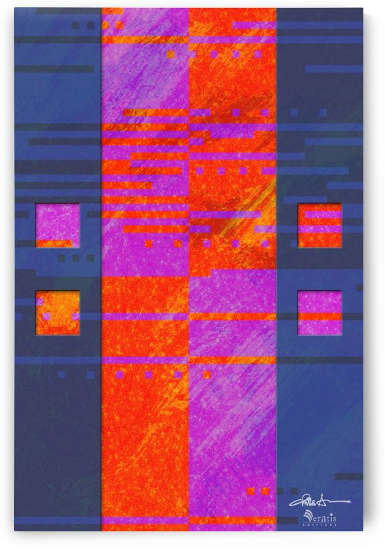 Framed Red Noise 2V 2x3_1596494438.3631 by Veratis Editions