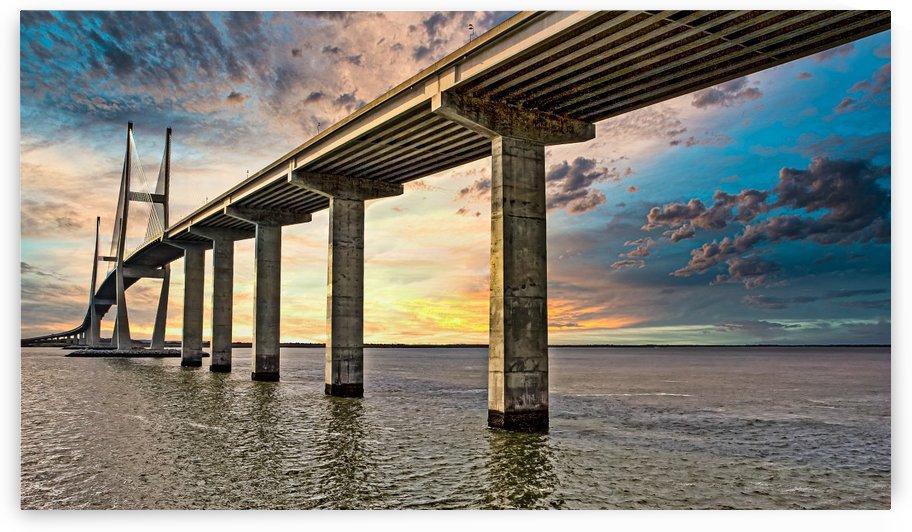 Grey Bridge at Dawn by Darryl Brooks