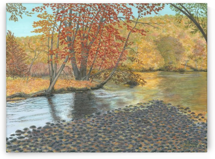 Two Rivers - Newtown Scenes 18X24 by Rick Kuhn