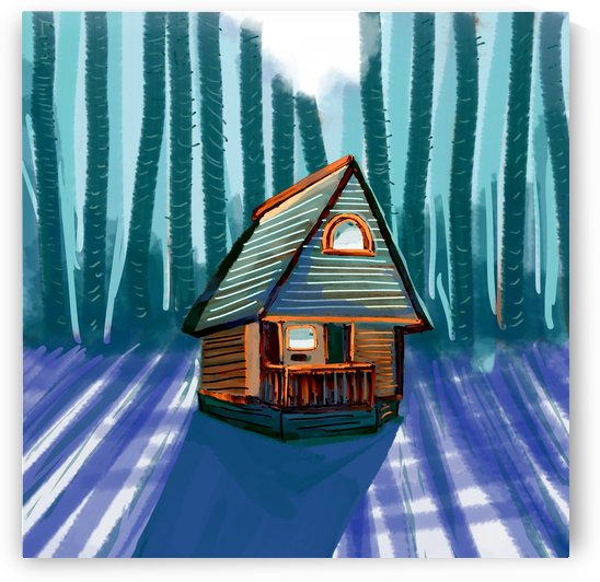 House on pacific forest by Oletydraw