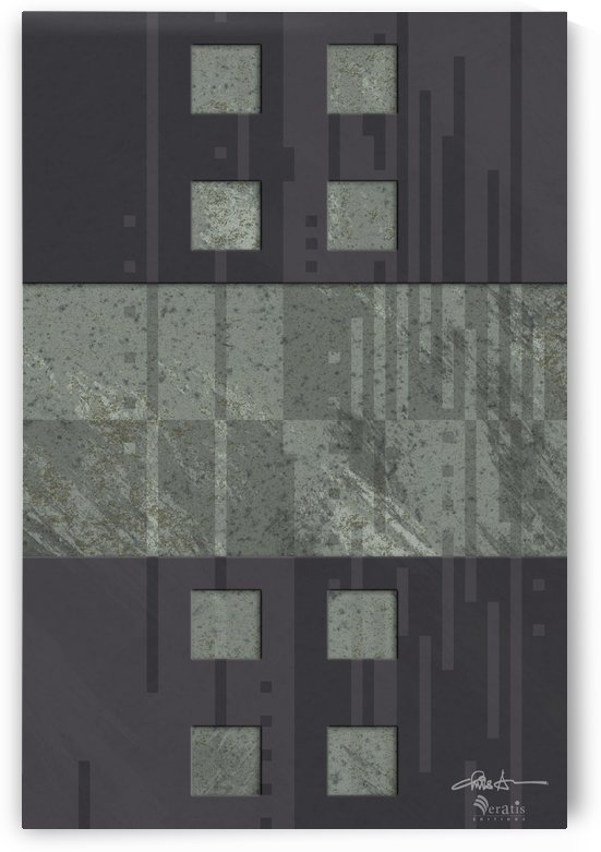 Framed Sage Noise H 2x3 by Veratis Editions