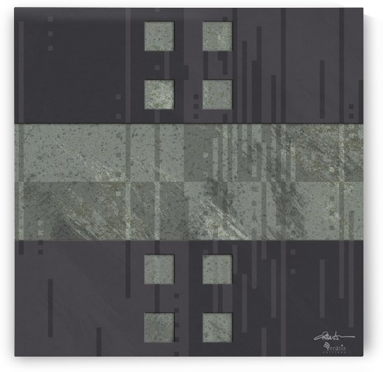 Framed Sage Noise H 1x1 by Veratis Editions