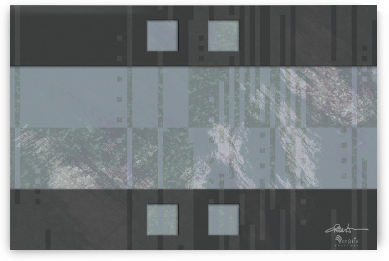 Framed Heather Noise H 3x2 by Veratis Editions