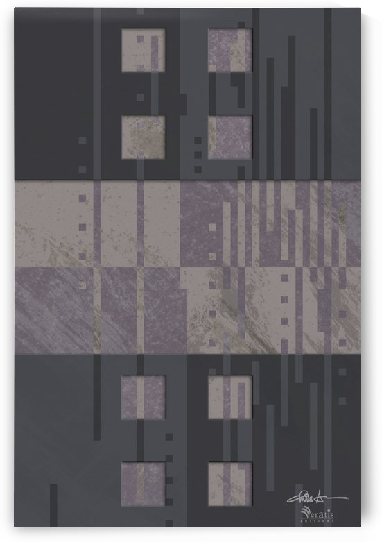 Framed Taupe Noise H 2x3 by Veratis Editions