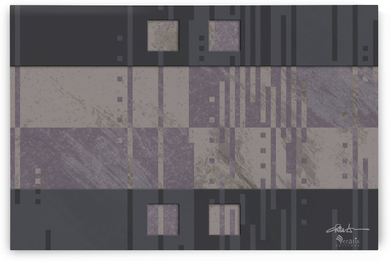 Framed Taupe Noise H 3x2 by Veratis Editions