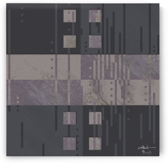 Framed Taupe Noise H 1x1 by Veratis Editions
