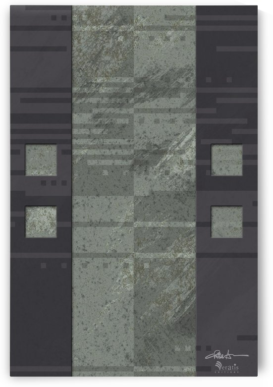 Framed Sage Noise V 2x3 by Veratis Editions