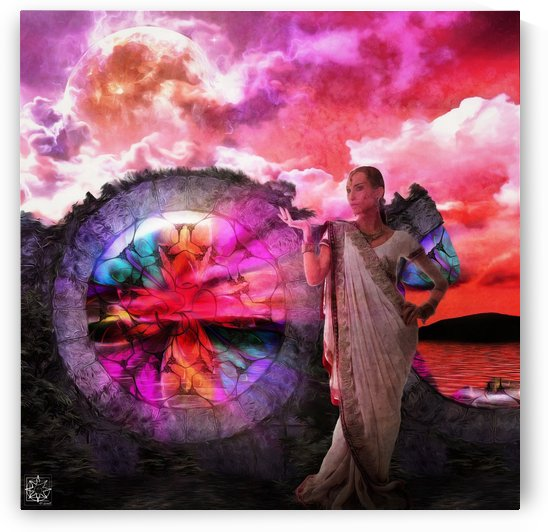 Moon Goddess Window by ChrisHarrisArt
