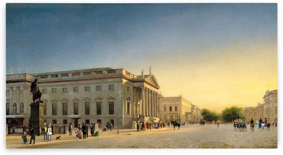 Opernhaus Berlin by Eduard Gaertner